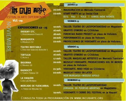programa incubarte 2009